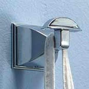Motiv Decorative Bathroom Accessories Quattro Robe Hook Satin Nickel