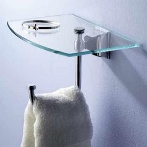 Motiv Decorative Bathroom Accessories Quattro 9'' Tray With Hook Satin Nickel