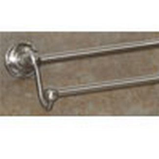 Top knobs bathroom hardware edwardian bath 24 double for Bathroom knobs brushed nickel