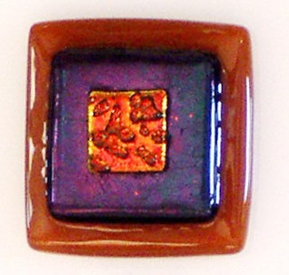 Adagio Art Glass Amber Collection Cabinet Knob  and Pulls