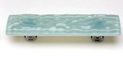 Sietto Glass Cabinet Pull Glacier  Light Aqua