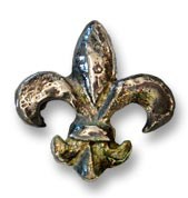 Waterwood Hardware -Large Fleur De Lis Cabinet Knob