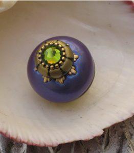 Susan Goldstick Periwinkle Nu Iris Decorative Cabinet Knob