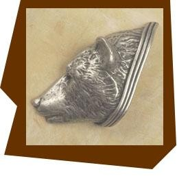 Anne at Home Bear Head Cabinet Knob/Left