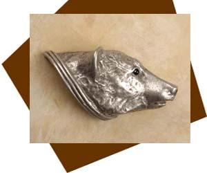 Anne at Home Bear Head Cabinet Knob/Right