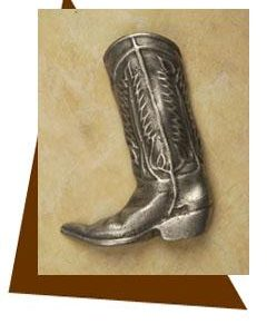 Anne at Home Cowboy Boot Cabinet Knob-Large/Left