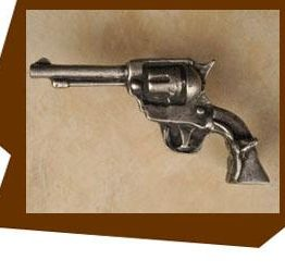 Anne at Home Wild West Gun Cabinet Knob-Left