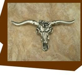 Anne at Home Longhorn Skull Cabinet Knob
