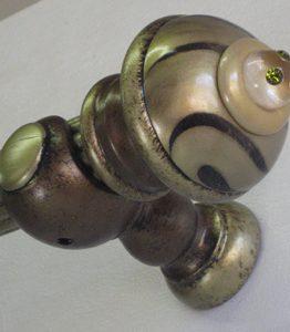 Susan Goldstick Decorative Finials Congo Light- Jade/Black/Light Gold/Olivine Cystal