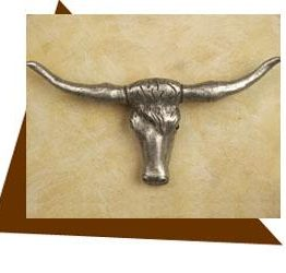 Anne at Home Texas Longhorn Cabinet Knob