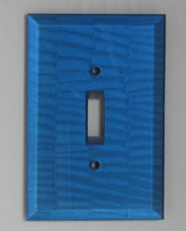 Susan Goldstick Decorative Switchplates Glass Switch Cover1 - Lapis