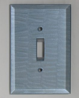 Susan Goldstick Decorative Switchplates Glass Switch Cover1 - Light Sapphire