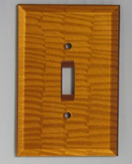 Susan Goldstick Decorative Switchplates Glass Switch Cover1 -Deep Gold