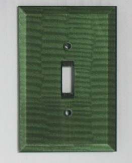Susan Goldstick Decorative Switchplates Glass Switch Cover1 - Emerald