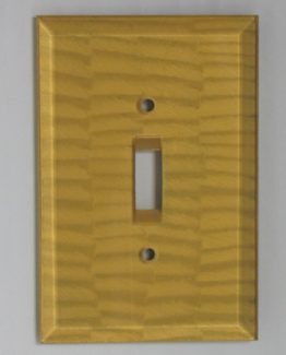 Susan Goldstick Decorative Switchplates Glass Switch Cover1 - Light Gold
