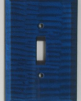 Susan Goldstick Decorative Switchplates Glass Switch Cover1 - Sapphire
