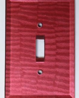Susan Goldstick Decorative Switchplates Glass Switch Cover1 - Ruby