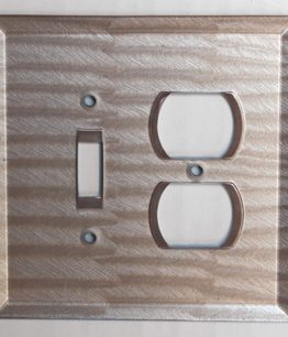 Susan Goldstick Decorative Outlets Glass Toggle/Duplex -  Light Bronze