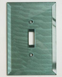 Susan Goldstick Decorative Switchplates Glass Switch Cover1 - Aqua