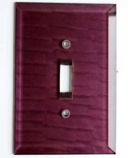 Susan Goldstick Decorative Switchplates Glass Switch Cover1 - Amethyst