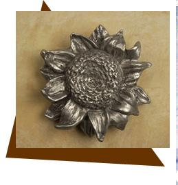 Anne at Home Sunflower Cabinet Knob/Large