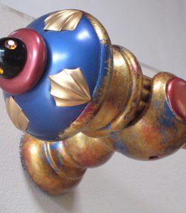 Susan Goldstick Decorative Finials Erte Standard - Lapis/Ruby/Black Cabachon
