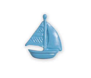 Michael Aram Transportation Series Blue Sailboat Cabinet Knob