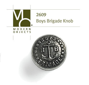 Modern Objects Designer Hardware Boys Brigade Cabinet Knob