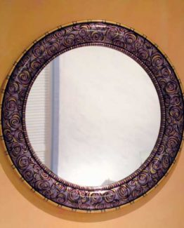 Susan Goldstick Decorative Mirror - Aurora Mirror-Shell/Amethyst/Jade