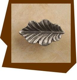 Anne At Home Fancy Oak Leaf Cabinet Knob - Small