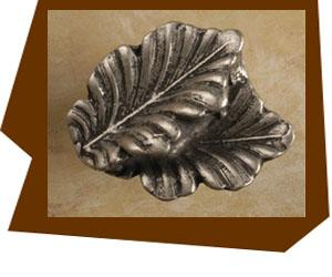 Anne At Home Fancy Double Oak Leaf Cabinet Knob