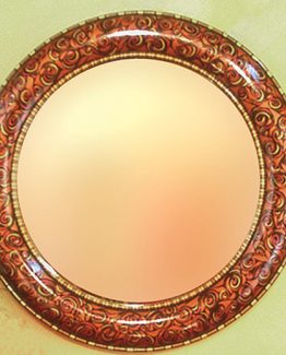 Susan Goldstick Decorative Mirror - Aurora Mirror - Copper/Ruby/Jade