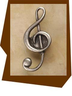 Anne At Home Clef-Music Cabinet Knob-Large