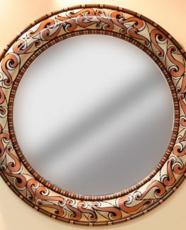 Susan Goldstick Decorative Mirror - Aurora Mirror - Coral/Agate/Silver/Light Bronze