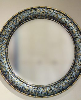 Susan Goldstick Decorative Mirror - Aurora Mirror - Light sapphire/Light Gold/Deep Opal