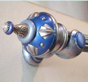 Susan Goldstick Decorative Finials Guinivere - Lapis/Light Sapphire/Periwinkle