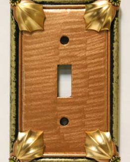 Susan Goldstick Decorative Switchplates Cleo Switch Cover1 - Amber/Jade