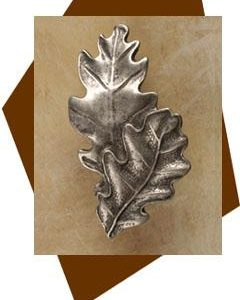 Double Oak Leaf Cabinet Knob-Small