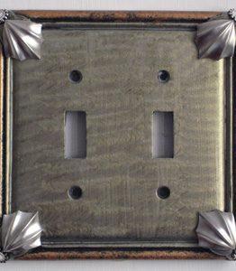 Susan Goldstick Decorative Switchplates Cleo 2 - Deep Opal/Amber