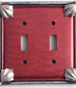 Susan Goldstick Decorative Switchplates Cleo 2 - Ruby/Silver