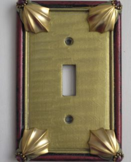 Susan Goldstick Decorative Switchplates Cleo Switch Cover1 - Jade/Garnet