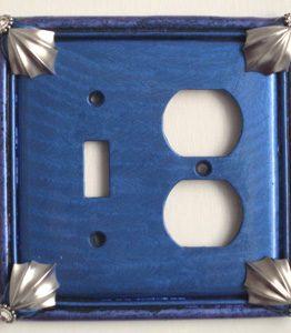 Susan Goldstick Decorative Outlets Cleo Toggle-Duplex - Lapis