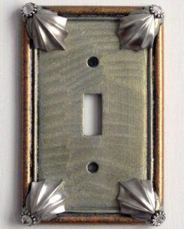 Susan Goldstick Decorative Switchplates Cleo Switch Cover1 - Deep Opal/Amber