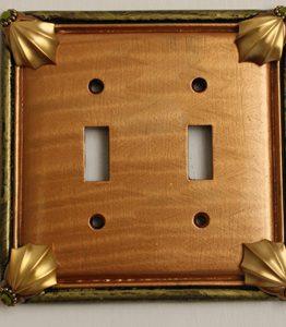 Susan Goldstick Decorative Switchplates Cleo 2 - Amber/Jade