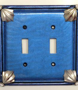 Susan Goldstick Decorative Switchplates Cleo 2 - Lapis/Periwinkle