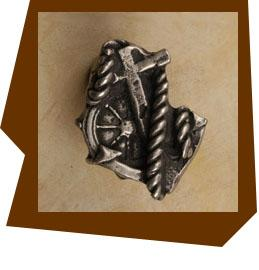 Anne At Home Anchor & Rope Cabinet Knob-Small