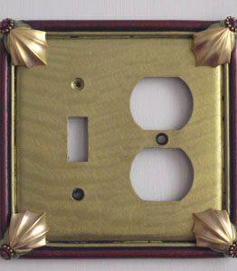 Susan Goldstick Decorative Outlets Cleo Toggle/Duplex -Jade/Garnet