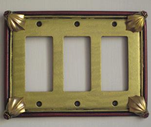 Susan Goldstick Decorative Switch Plates Cleo Decora Triple Jade