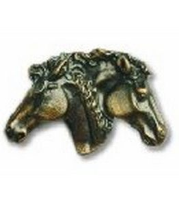 Buck Snort Lodge Cabinet Knobs and Pulls - Dual Horse Heads