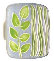 Acorn Manufacturing Square Light Blue Sea Grass Cabinet Knob